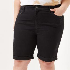 High Waisted Eco-conscious Bermuda Shorts
